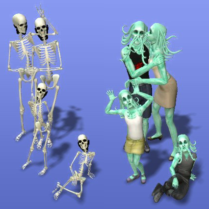 A skeleton Cthulhu clan? Won't somebody think of the children!